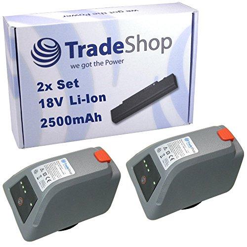 Preisvergleich Produktbild 2x Trade-Shop Li-Ion Akku 18V / 2500mAh ersetzt Gardena 008A231 für Gardena 8025-20 Comfort Wand-Schlauchbox 35 roll-up automatic Li Elektische Schlauchtrommel