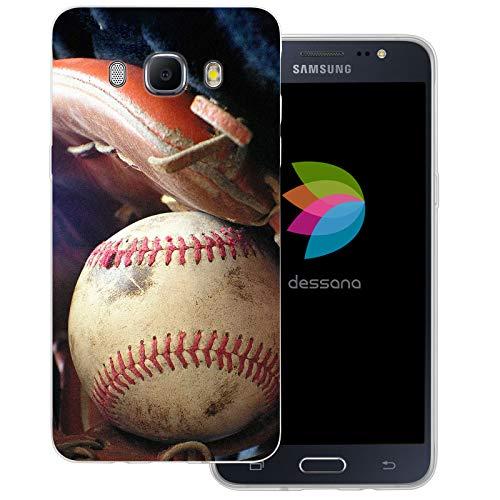 dessana Baseball Transparente Schutzhülle Handy Case Cover Tasche für Samsung Galaxy J5 (2016) Baseball Training Mlb Baseball-handy