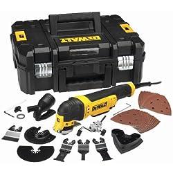 DeWalt DWE315KT-QS - Multiherramienta oscilante de 300 W con maletín y 37 accesorios
