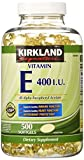 Kirkland Signature Vitamin E 400 IU, 500 Softgels from Kirkland