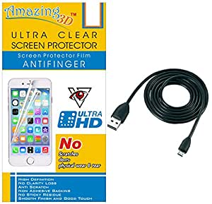 Generic Ultra Clear Screen Protector For Yureka Plus And Free USB Data Cable