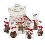 Schokoladen - Glücksfigur 10 g Edelvollmilch Schokolade 1 Stück im Beutel Schokolade Glückssortiment Glücksbringer