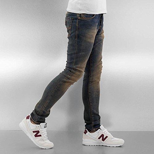 2Y Herren Jeans / Skinny Jeans Washed Blau