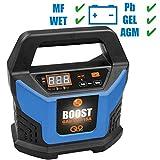 GÜDE Automatik Batterielader GAB 12V - 15A-BOOST | 4-400 Ah | 12 V | BOOST-FUNKTION | LED-Anzeige | Erhaltungsfunktion | für PKW, LKW, BOOT, ROLLER, MOTORRAD | automatisches Batterieladegerät | Batterie Ladegerät | Starthilfe |