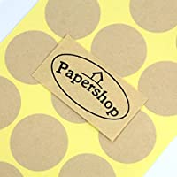 Kraft Circle Labels (x36) - DIY Blank Circle Stickers - for Home Baking, Kitchen Jars, Handmade Gifts, Cosmetic Tin/Pot Labelling & Craft