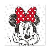 Keilbild Wandbild Leinwand RIVO 16 | Disneys Minnie Mouse | 35x35 cm
