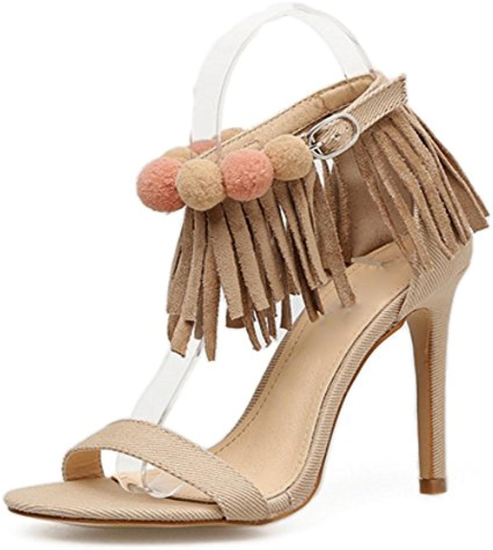 4b18445dc46135 les sandales à talons talons talons été icbt mode stiletto talon haut chaussures  taille les sandales les romains...b07fqv5h31 parent   Les Consommateurs ...