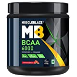 MuscleBlaze BCAA 6000 Amino Acid Powder (Watermelon, 0.88 lbs/400g, 50 Servings)