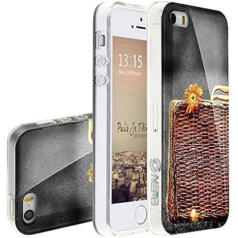 iPhone 5S Cover suave, Asnlove Custodia TPU Gel Silicone IML