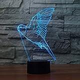 Flying Parrot 3D Lampe 7 Couleur Led Lampes De Nuit Pour Les Enfants Touch Led Usb...