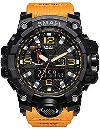 61cf5af9dec2 Reloj de Pulsera para Hombre de dial Doble Digital Reloj de Pulsera para  Hombre de Negocios