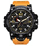 Reloj de Pulsera para Hombre de dial Doble Digital Reloj de Pulsera para Hombre de Negocios Militar Multifuncional Reloj analógico Resistente a Golpes S electrónico (4)
