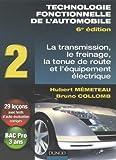 Technologie fonctionnelle de l'automobile - Tome 2, Transmission, freinage, tenue de route et équipement électrique by Hubert Mèmeteau (2009-05-20) - Dunod - 20/05/2009