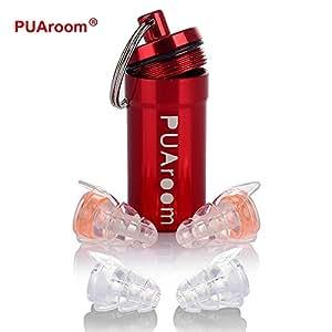 Puaroom tappi per le orecchie 2 paia con tappo in for Tappi orecchie silicone per dormire