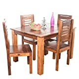 #3: Roman Living Preda Sheesham 4-Seater Dining Table Set