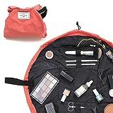 The Flat Lay Co. Make-up-Tasche, flach, Reise-Kosmetiktasche, Inhalt nicht enthalten rot korallenrot...