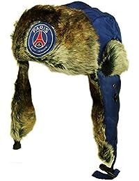 PSG - Chapka PSG Officielle - Fourrure Synthétique - Couleur : Bleu