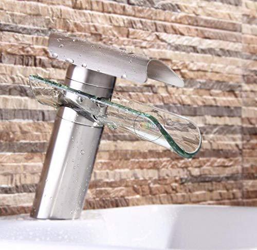 Mischbatterien Messing Chrom Farbe Silber Einlochmontage Griff Rosa Waschtischwanne Vanity Vessel Sink Armaturen (Rosa Griffe Vanity)