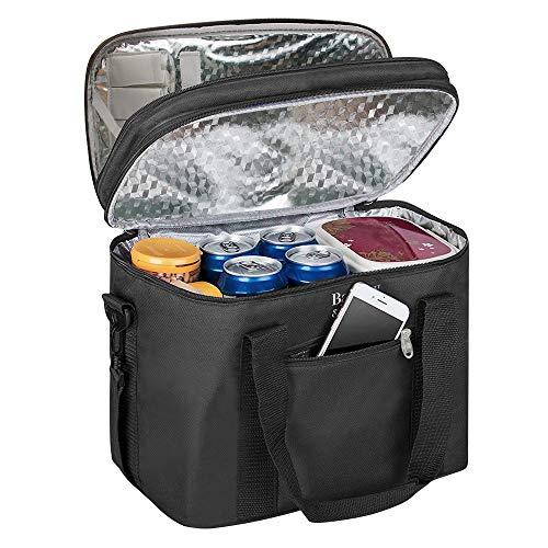 Balcony & falcon luoluo borsa termica, borsa da pranzo termica borsa frigo tracolla borsa termica pranzo ufficio elegante per donna uomo borsa da picnic,scuola,pranzo ecc. (18 litri)