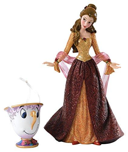 Disney Showcase 4053349 Collection Christmas Belle Figurine, Stein, bunt, 12 x 10 x 20 cm