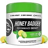 Honey Badger Performance Energy Natural Pre Workout for Men & Women Lemon Lime