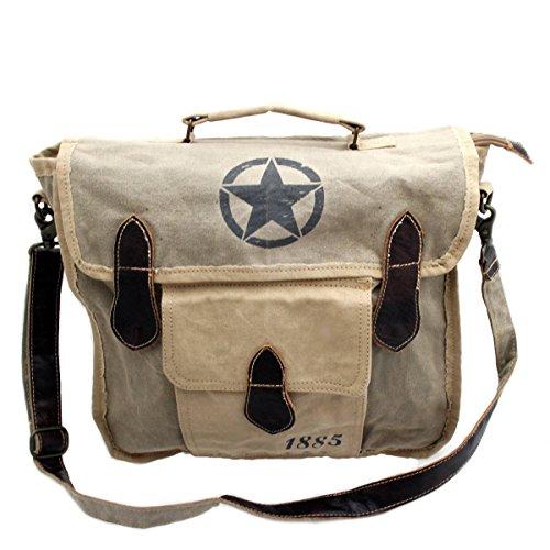 gall&zick , Borsa Messenger , vintage (Beige) - SHT-190 stella