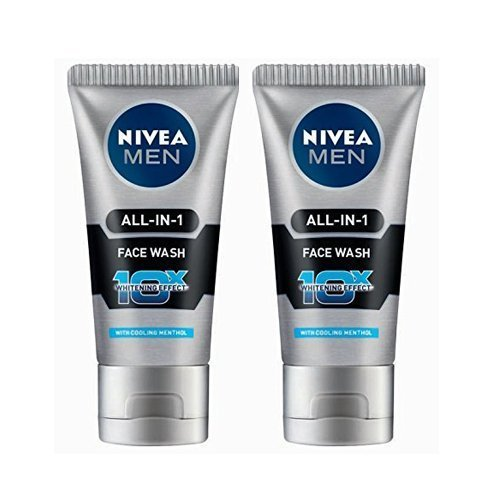 2 Pack X Nivea Men All in 1 Face Wash 10X Whitening Effect and Nivea Men Dark Spot Reduction Moisturiser(Ship from India)