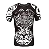 Rule Out Short Sleeve Rash Guard Top. New Zealand Rugby. All Blacks. Herren Training Kompression Top (Größe Large)