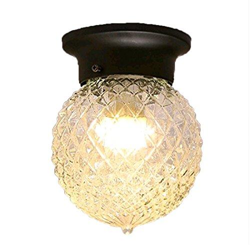 ayaya lampada da soffitto plafoniera lampada usa piccola sfera Retro Bagno americana piccolo ananas della (Vecchio Bronzo 2 Lampadina)