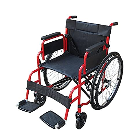 Pandamoto Wheelchair Puncture Resistant Self Propel Folding Portable Propelled Wheel chair With Free Pump (S1