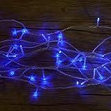 Lichterkette WISD Batteriebetriebene 51.5M 500 LED Wasserdicht Christmas Lichterkette, Innen- und Außen Deko Glühbirne, Weihnachtsbeleuchtung für Zimmer Bett / Weihnachten / Halloween / Hochzeit / Party / Weihnachtsbaum - Blau