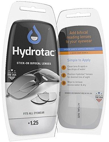 Leselinsen Hydrotac/Geeigneit für Sonnenbrillen und Spobrillen LH, Gläserstärke:+ 1.25