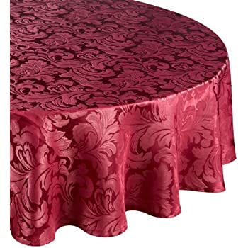 Nice Premier Cadiz Berry 69in  175cm Diameter Approximately Round Tablecloth