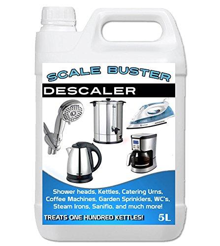 Scale Buster–Anticalcare per ferro a vapore, bollitore, soffione della doccia e macchina da caffè 2 x 5 Litre