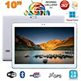 Tablette 10 pouces 3G Android 5.1 Lollipop Dual SIM Quad Core 16Go Blanc