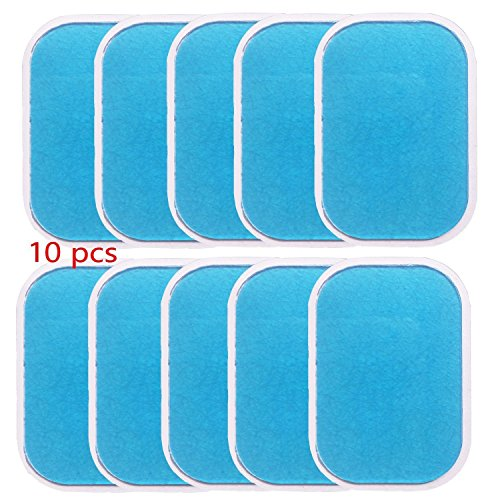 EMS Pads EMS Muscle Stimulator Replacement Pads Yiitay EMS Gel Pad Abdominal Muscle Training Gel Leaf Electric Muscle Trainer Ab Training Accessory 10 Piece Hydrogel Gel Sheets for Gel Pad Body Protector Film