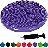 Movit Cuscino per Equilibrio a Sfera Pilates Dynamic Seat Ball Cuscino con Pompa, Testato per Sostanze nocive e Privo di ftalati, 33 cm