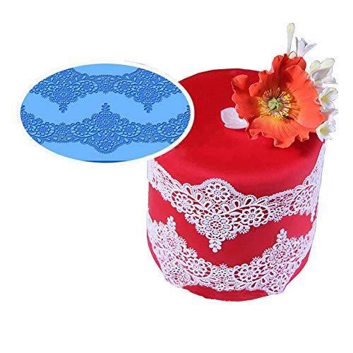 Cake Decorating Gel (Outtybrave Retro Flower Lace Mold Silikon Sugar Lace Pad Fondant Soap Cake Decorating Mat Kitchenware DIY Backartikel)