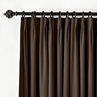 ChadMade Pinch Pleat 72W x 84L Blackout Lined Velvet Curtain Drapery Panel For Traverse Rod or Track, Living room Bedroom Meetingroom Club Theater Patio Door (1 Panel), Chocolate from ChadMade
