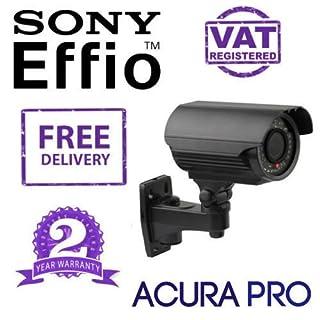 AcuraPRO Sony 700TVL Effio-E verstärkte-Kamera mit Variofokus, Infrarot-Bullet Überwachungskamera