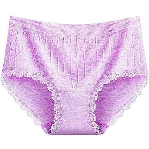 TDFGCR Frauen Sexy Dessous Volltonfarbe Open Thong Höschen G-Pants Dessous Pyjamas-Púrpura Free Size