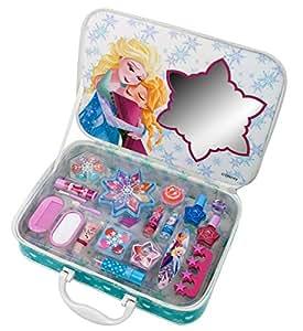Markwins Disney Frozen Die Eiskönigin Geschenk-Set, 1er Pack (Lippenstift, Glitter Lipgloss, Lidschatten-Set, Pinsel, Lipgloss-Sets, Rouge, Nagellack)