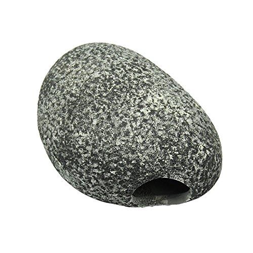 ECMQ Cichlid Stone Keramik Rock Höhle Aquarium Teich Ornament Shrimp Zucht (M)