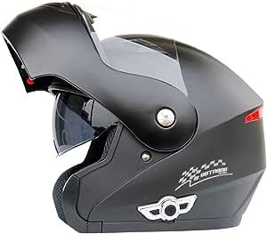 Ycyo Motorrad Helm Klapp Helm Mit Verstecktem Bluetooth Flip Up Integral Helm Roller Helm Full Face Scooter Helm Ecer 22 05 Sonnenvisier Schnellverschluss Tasche Matte Black Bluetooth L 59 60cm Sport Freizeit