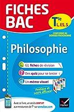 Fiches bac Philosophie Tle L, ES, S - Fiches de révision Terminale séries générales de Gérard Durozoi