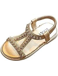 Sandalias ni/ña verano ❤️ Amlaiworld Zapatillas Zapatos planos de chicas Flor Sandalias para ni/ñas calzado Zapatos de vestir Zapatos Princesa