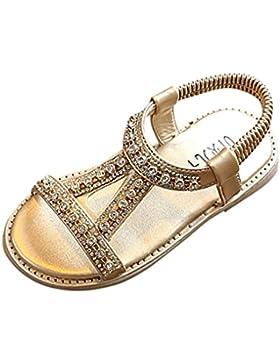 Sandalias Niña ❤️ Amlaiworld Sandalias romanas Bebé Niña Verano Zapatos planos Zapatillas de niñas princesa Sandalias...