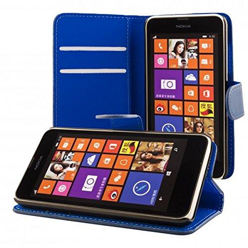 ECENCE Handyhülle Schutzhülle Case Cover kompatibel für Nokia Lumia 630/630 Dual SIM / 635 Handytasche 41020304 (Sim-karte Für Nokia Lumia 635)
