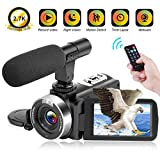 Camcorder Video Camera Full HD 2.7K 30FPS Digital Camcorder with Remote Control IR