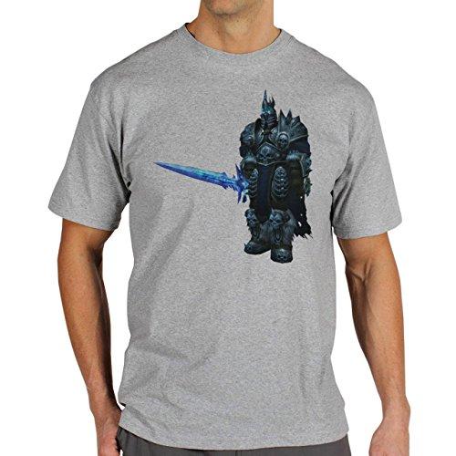 World Of Warcraft Heroes Blizzard Wrath Of The Lich King Herren T-Shirt Grau